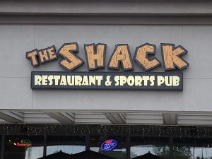 shack outside sign